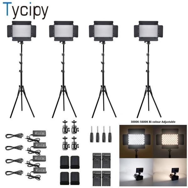 Tycipy Smartphone için LED Video Işığı Bi-Renk Ayarlanabilir Aydınlatma Kiti Kamera Portre makyaj YouTube Video Çekim