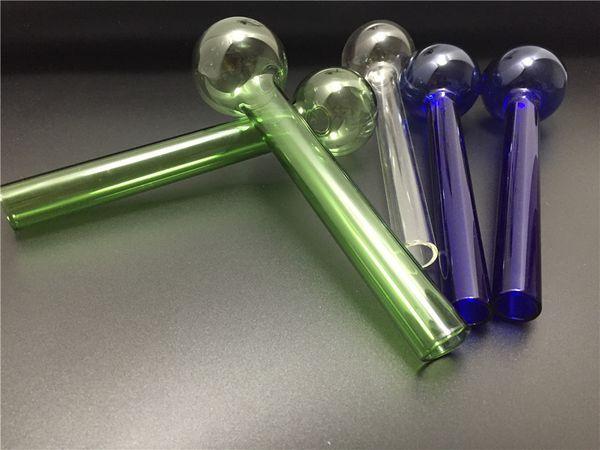 mixte coloré Pyrex grand brûleur à mazout clair verre brûleur à mazout tube en verre