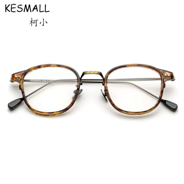 2018 Vintage Eyeglasses Mujeres Moda Óptica Gafas Marcos Hombres Miopía Gafas Marco para Computadora Oculos De Grau YJ868
