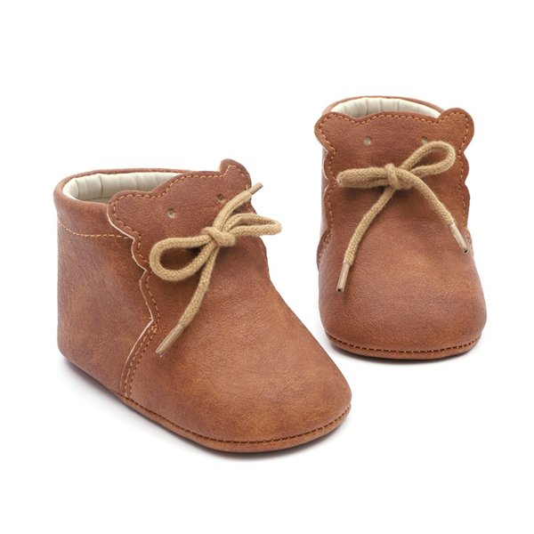 Весна Осень Младенческой Детская Обувь Медведь Шаблон Мягкой Подошвой Первые Ходунки Мальчики Девочки Повседневная Обувь Детская Кроватка Кроссовки