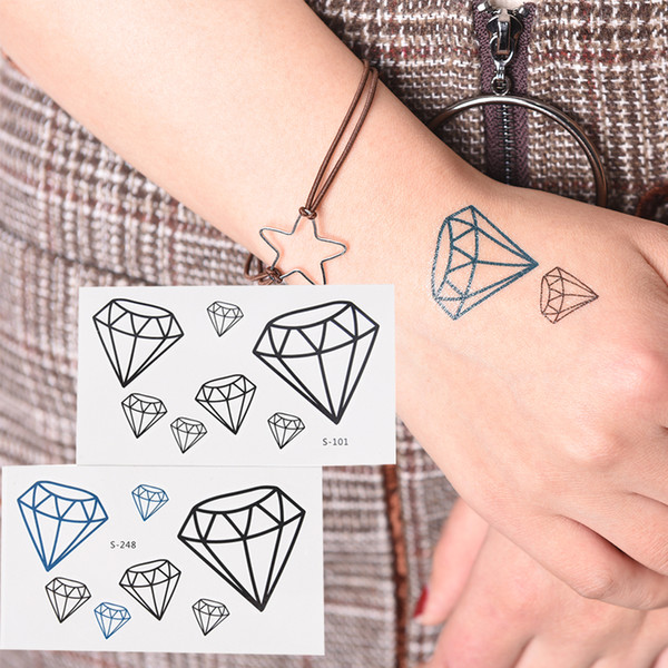 1Pcs Waterproof Make Up Diamond Heart Tattoo Temporary Tattoo For Man Woman Stickers Makeup Maquiagem