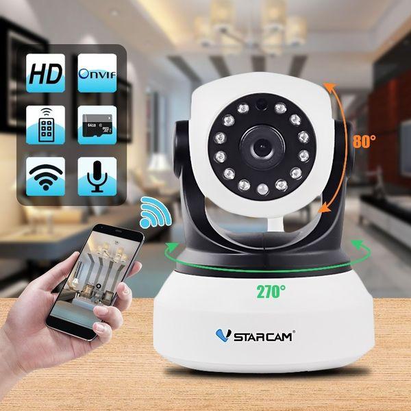 Vstarcam C7824wip Ip Camera Home Security Onvif 2.0 Hd 720p Wireless Camera Baby/pet Monitor Cctv Ip Ir Night Vision Wifi 64 Tf Card Whitee