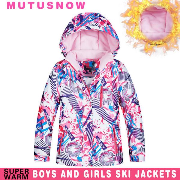 Kids Ski Jacket Winter Children Thicken Windproof Waterproof Super Warm Ski Clothes Girls Snow Coat -30 Winter Snowboard Jacket