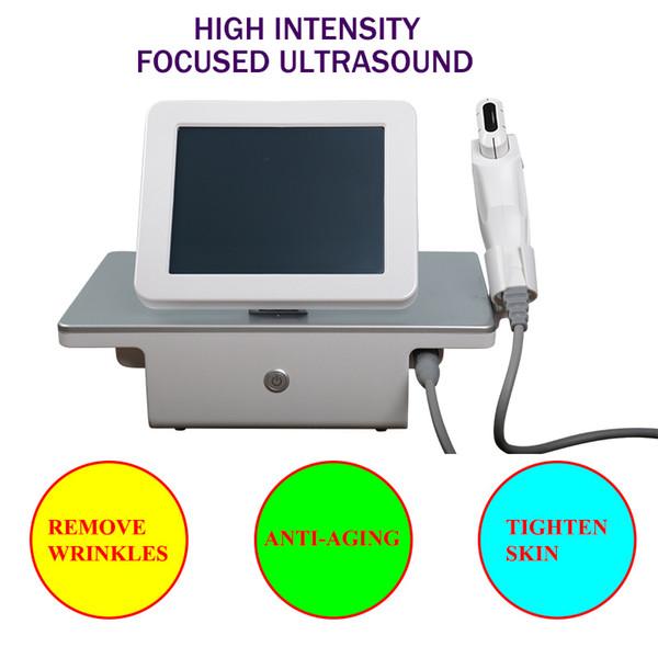 Dispositivo di sollevamento facciale HIFU di ringiovanimento della pelle facciale della macchina di ultrasuono portatile di HIFU con 5 attrezzatura del salone di bellezza delle cartucce