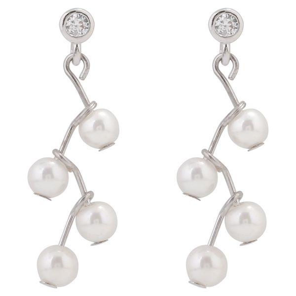 Argent pur géométrique mère coquille perle boucle d'oreille femelle style court tempérament coréen oreille simple ongles célébrité boucle d'oreille personnalité