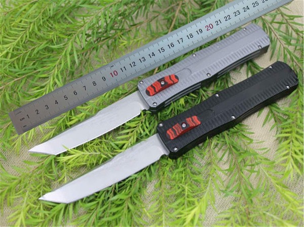 Hot Sale! AUTO Tactical Knife D2 60HRC Tanto Satin Blade 6061 Handle EDC Pocket Knife Gift Knives with Nylon Bag