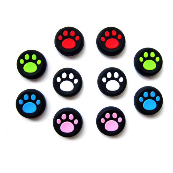 Rubber Silicone Cat Claw Analog Thumb Sticks Grips for Playstation 4 PS4 PRO Slim Controller Caps for XBox One / 360 for PS3
