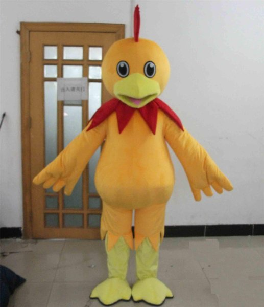 2018 High quality hot chicken costume a cute adult yellow chicken mascot costume for adult to wear