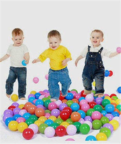 100 Pack - Ocean Balls Crush Proof BPA Free - 6 Colors - Fun Toy Balls For Kids and Baby Outdoor Play Games- Original