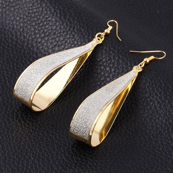 top popular Earrings Hoop for Women Korean Fashion Jewelry Grind Arenaceous 925 Silver Cubic Zirconia Round Drop Earrings Hanging 14k Gold Hoop Earrings 2019