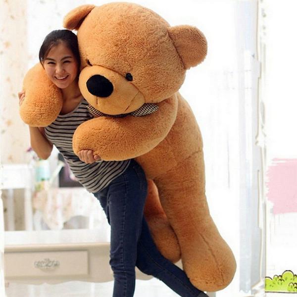 "72"" 180cm Giant Huge Teddy Bear Brown Stuffed Plush Toy Birthday Gift"