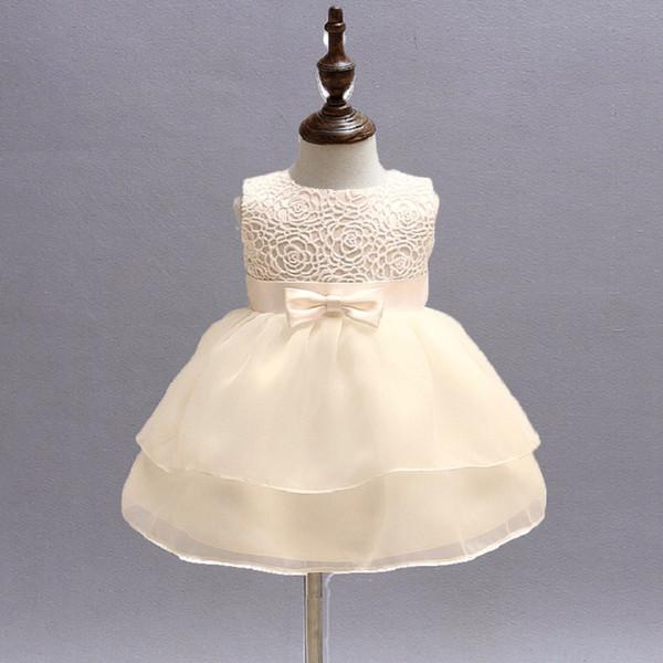 Marque enfant en bas âge fille baptême vêtements fille nouveau-né bébé robe de baptême robe pour enfants partie porter des tenues d'anniversaireBBD020-1