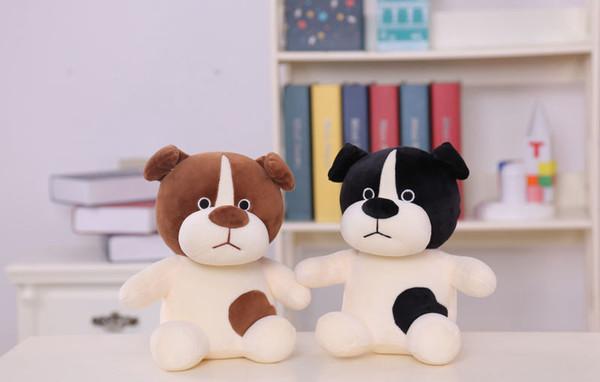 Lovely Black Eyes Sitting Dog Plush Doll Stuffed Animal Soft Plush Toy Birthday Gift For Children