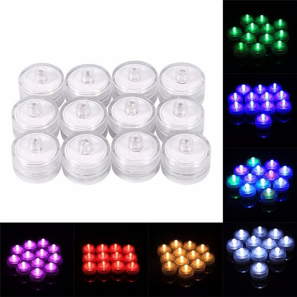 LED Waterproofing Candle Tea Fish Tank Lamp Party Bar Wedding Sunken Electronic Candle Lamp Submersible Lamp for Party Decoration