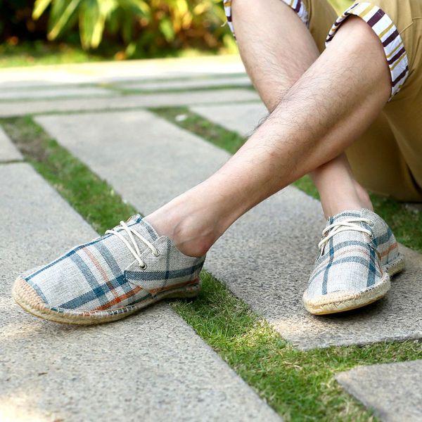 fashion 2018 men casual shoes new designer shoes lace up canvas design men's casual sapato zapatos hombre
