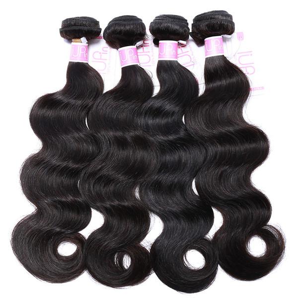 top popular 8A Brazilian Body Wave Human Hair 4 Bundles 100% Virgin Unprocessed Human Hair Bundles Peruvian Malaysian Brazilian Body Wave Hair Products 2019