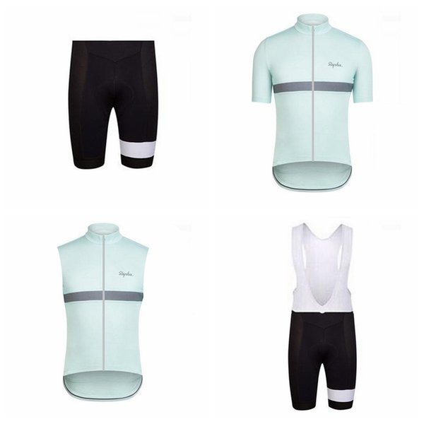 best selling RAPHA team Cycling Short Sleeves jersey (bib) shorts Sleeveless Vest sets Hot Sale breathable and quick-drying mountain Bike Clothes Q50513