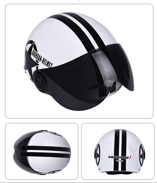 White Off-road Racing Motocross Helmets Men ATV MTB DH Dirt bike Full Face Motorbike Riding Helmet With Sun Visor Lens Motorcycle Helmet