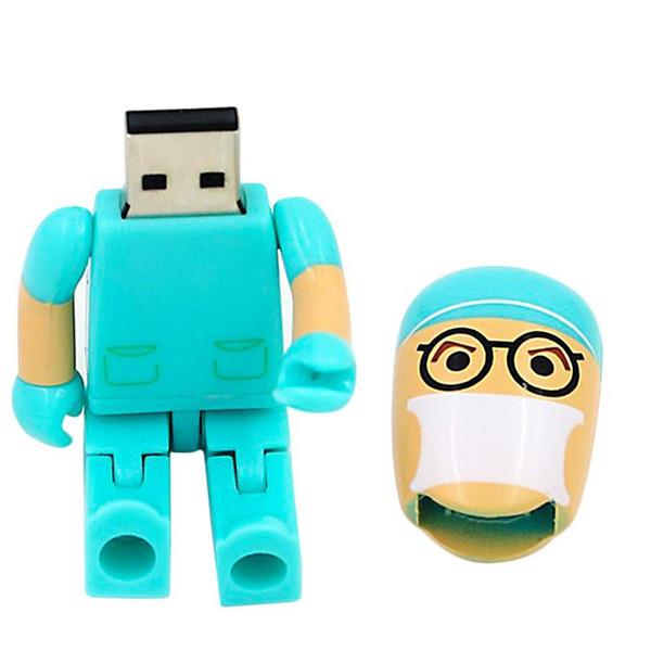 gift pendrive cartoon U Disk Doctor USB flash drive Nurse memory stick cute 128gb pen drive U49 new arrival