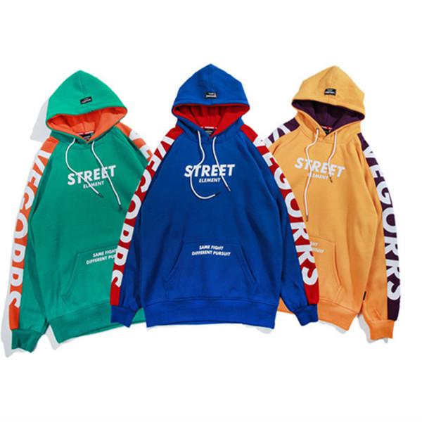 VEGORRS Sudadera con capucha para hombre Marca Fleece Sudaderas con capucha  Invierno Otoño Streetwear Estilo de 4a6a4f1547b