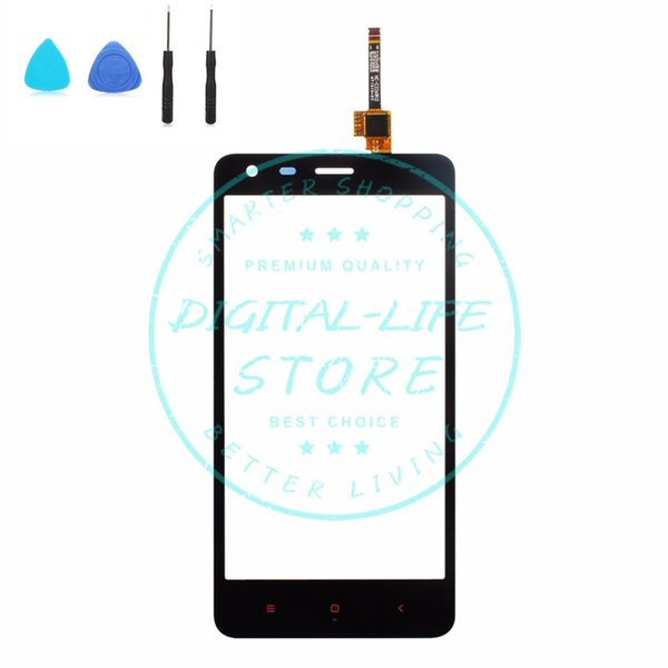 """for Xiaomi Redmi 2 Front Touch Screen Glass Panel Digitizer Replacement Repair Spare Parts Black 4.7"""" Inch Free Repair Tools"""