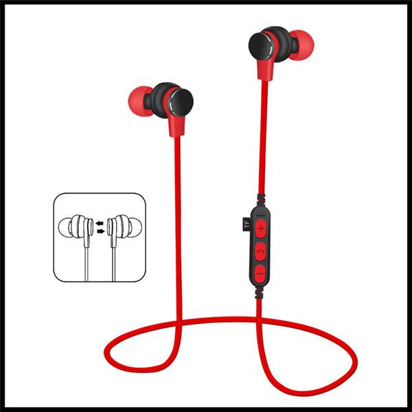 MS-T1 Bluetooth Headset Drahtlose In-Ear-Ohrhörer Unterstützung TF-Karte Musikwiedergabe Stereo-Sound MP3-Player Universeller magnetischer Kopfhörer