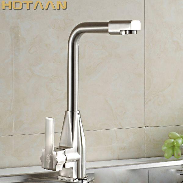Free shipping High Quality Guarantee! brush nickel kitchen sink tap , torneira,kitchen mixer swivel Kitchen Faucets,YT-6027