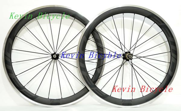 outlet!!F5R alloy brake Carbon Wheels 50mm Clincher Road Bike Aluminum alloy Carbon Wheel 700C 25mm width Road Bike