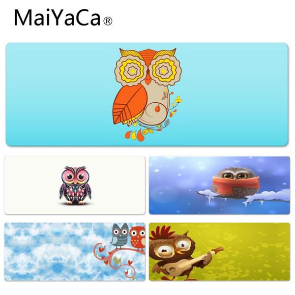 MaiYaCa Benutzerdefinierte Haut Cute Owl Durable Rubber Mauspad Pad Größe für 30x60cm 30x70cm 30x80cm 30x90cm 40x90cm