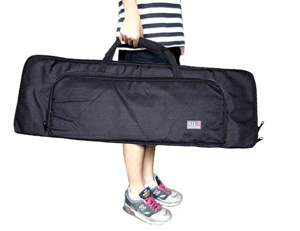 top popular Tactical 33 inch 10.5 inch 85cm Carry Case Rifle Gun Black Bag With Shoulder Strap Sling Slip 2021