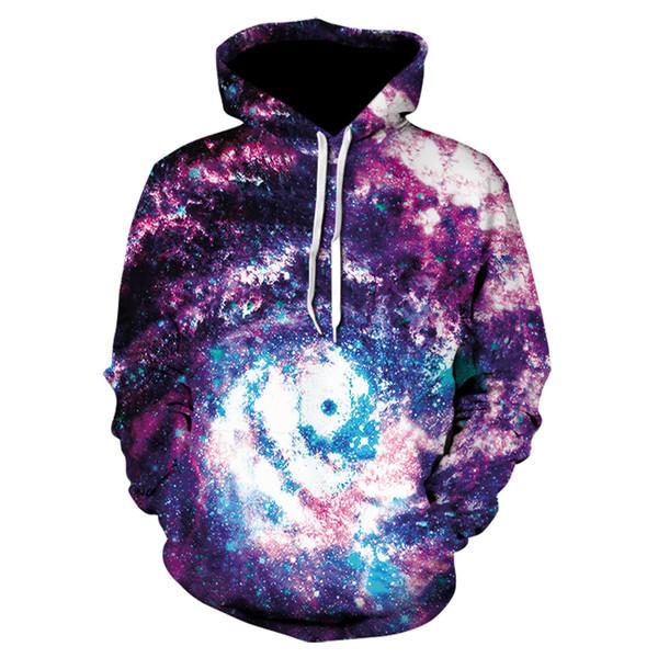 Felpe con cappuccio Space Galaxy Felpa 3D Hip Hop Coat Casual Streetwear Cappello Felpa Abbigliamento di marca 2017 Tuta Unisex Pullover