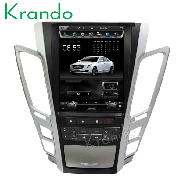 """Krando Android 6.0 10.4"""" Tesla Vertical screen car dvd audio radio player for Cadillac Old CTS 2007-2012 gps navigation system"""
