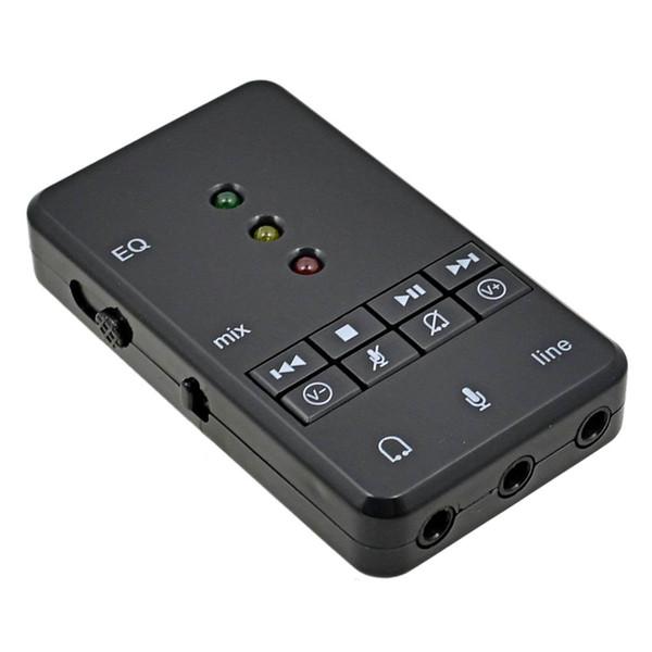 Adaptador de audio de la tarjeta de sonido USB Sienoc USB 2.0 Virtual 7.1 Channel Xear 3D External para Windows XP 7 8 10 Linux Vista Mac OS