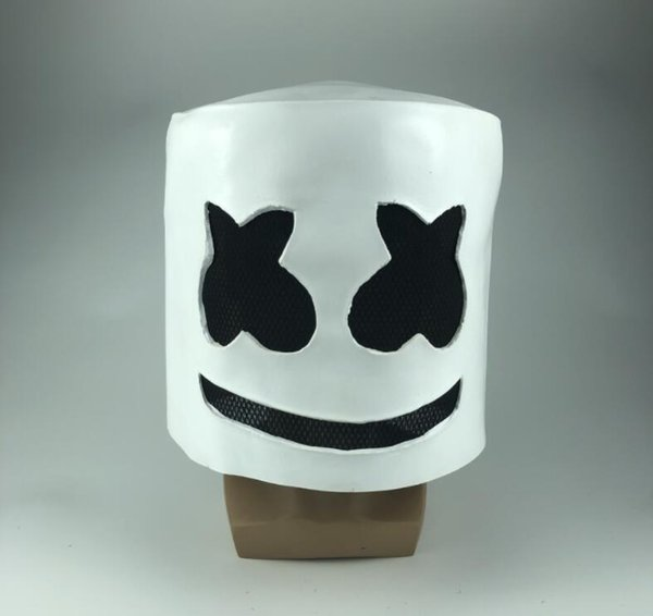 halloween dj marshmello mask cos theme costume accessories men funny festival party stage cosplay pranks headgear