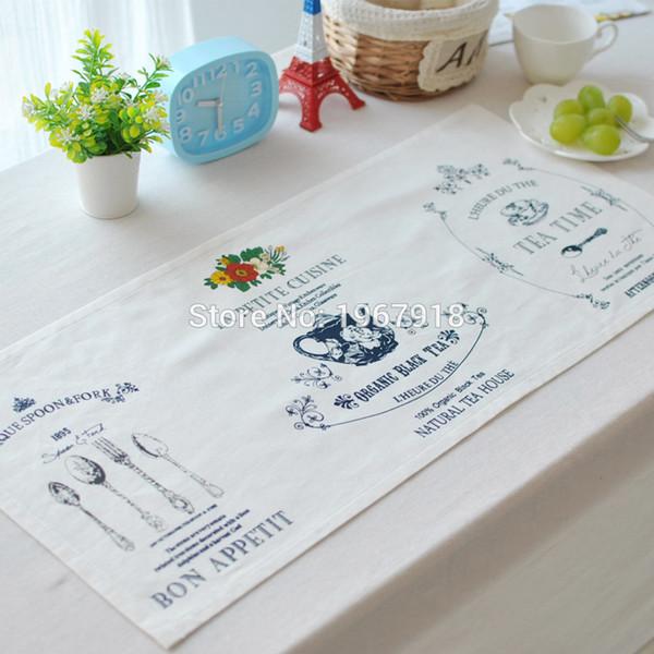2pcs 70*33cm Linen Table Cloth Table Placemat mat pad for Rustic Wedding centerpieces home christams party decoration
