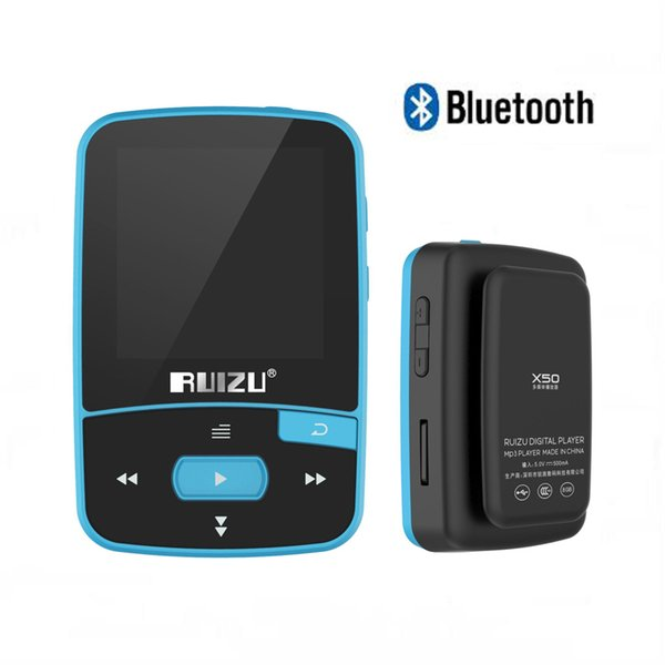 Wholesale-RUIZU X50 Bluetooth MP3 Player Walkman Sports Clip 8GB Support TF Card, FM Radio, Recording, , Pedometer Original 2017 New