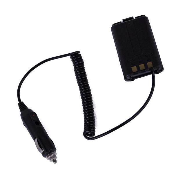 12V cargador de coche adaptador de eliminador de batería para radio portátil UV-5R UV-5RE Plus UV-5RA Walkie Talkie Accesorios BL-5