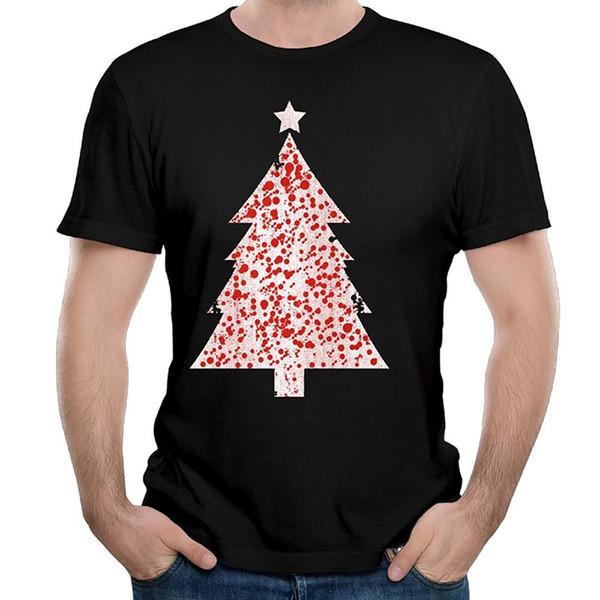 Футболка A Day O-Neck 100% хлопок с коротким рукавом Разноцветная рождественская елка для мужчин