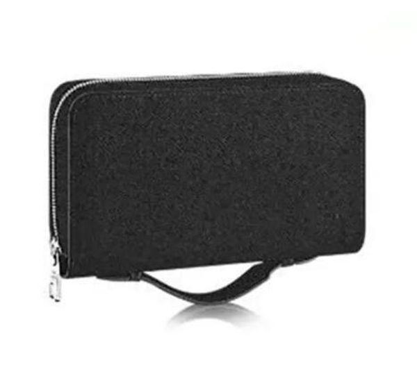 New Zippy XL Wallet round zipper travel case Black Purse Men Real Epi Leather M61506 Brown Passport bag Holder designer Damier Ebene clutch