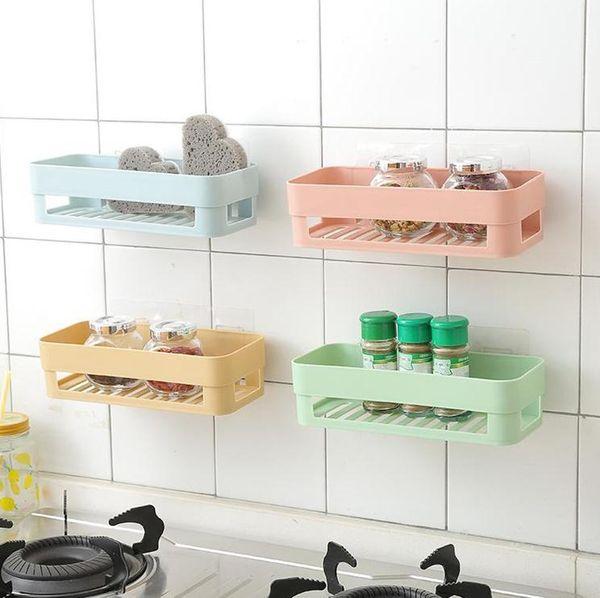Großhandel 2 Farben Nahtlose Paste Regal Nordic Toiletten Badezimmer Regal  Wiederverwendbare Racks Hängende Lager Inhaber Toilettenartikel Lagerregal  ...