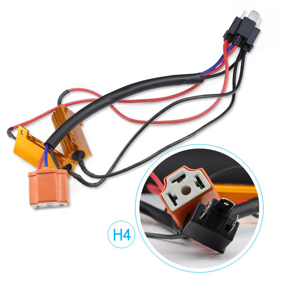 2X Error Free H4 H7 H8 H9 H11 9005 HB3 9006 HB4 Headlight Fog Light Xenon Lamp Bulb Decoder Resistor Wire Harness Adapter 50w