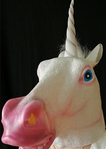 unicorn head mask horse Factory Price! Creepy Unicorn Head Latex Mask Halloween Costume Theater Prank Prop Crazy Masks