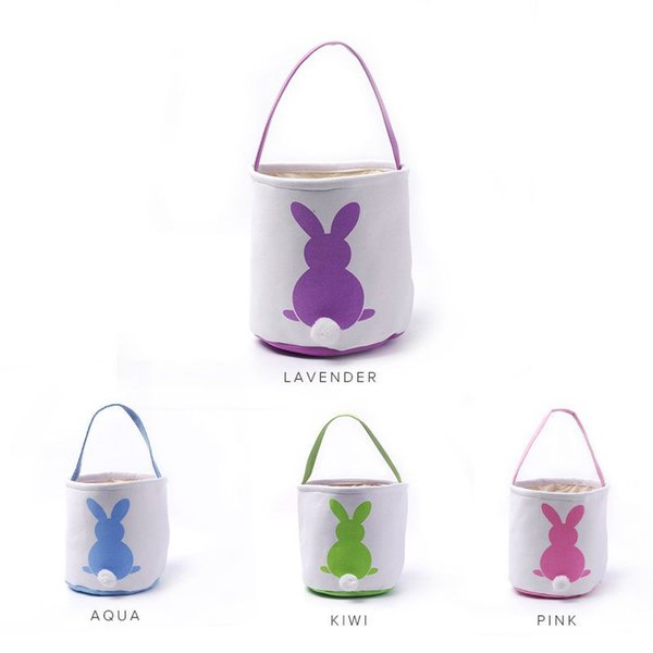 White bunny easter baskets wholesale blanks canvas easter buckets white bunny easter baskets wholesale blanks canvas easter buckets with moveable white tail easter day kids negle Image collections