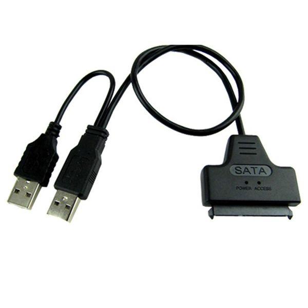 Etmakit Alta qualità Nuovo USB 2.0 a SATA Serial ATA 15 + 7 22P Cavo adattatore per disco rigido per laptop HDD da 2,5