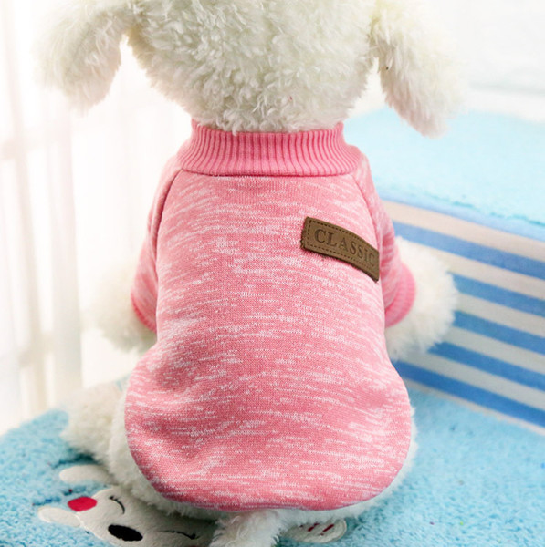 1pc Warm Dog Clothes For Small Dogs Winter Soft Pet Dog Sweater Clothing For Dog Winter Chihuahua Clothes Classic Pet Outfit 25S1