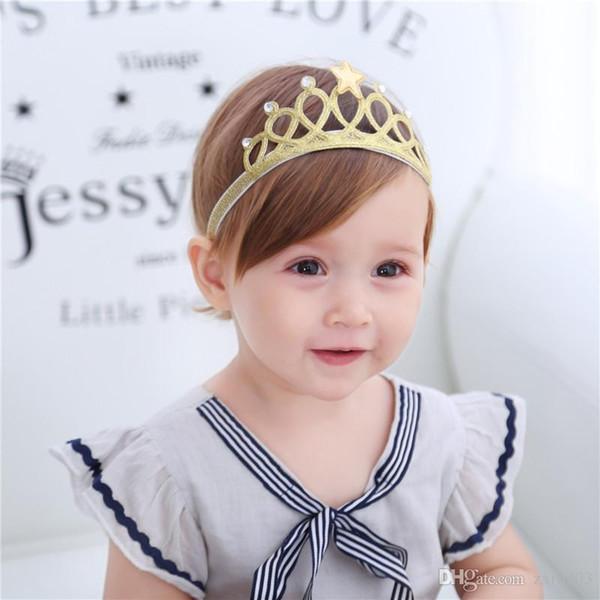Nueva Llegada Estrella Brillante Diadema Niñas Banda para el Cabello Wrap Head Accesorios para el Cabello Princesa Tiara Diadema Niños Headwear
