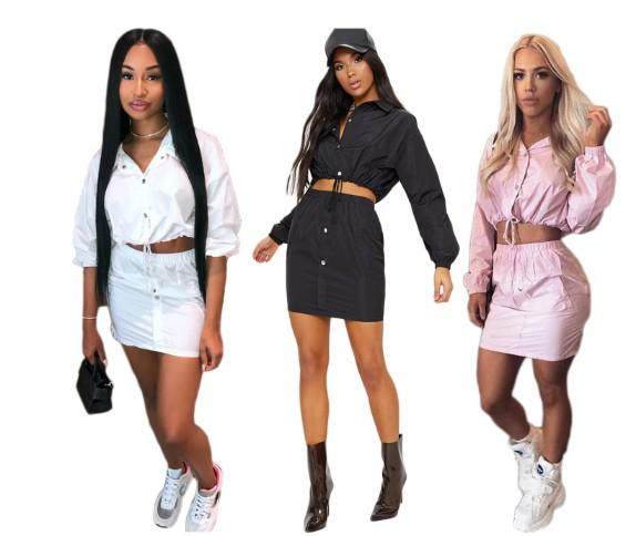 Designer women's European and American high-end fashion sexy women's short skirt suit anti-wrinkle comfortable beauty (N9043-1)