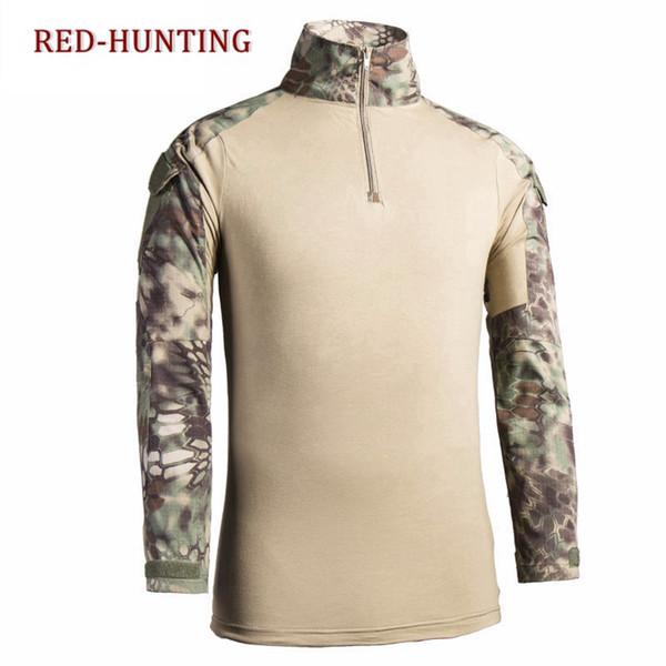 2019 Men'S Army Multicam ACU FG Desert Camo Outdoor Tactical Shirts Shirt  Combat Hiking T Shirt From Lahong, $40 65   DHgate Com