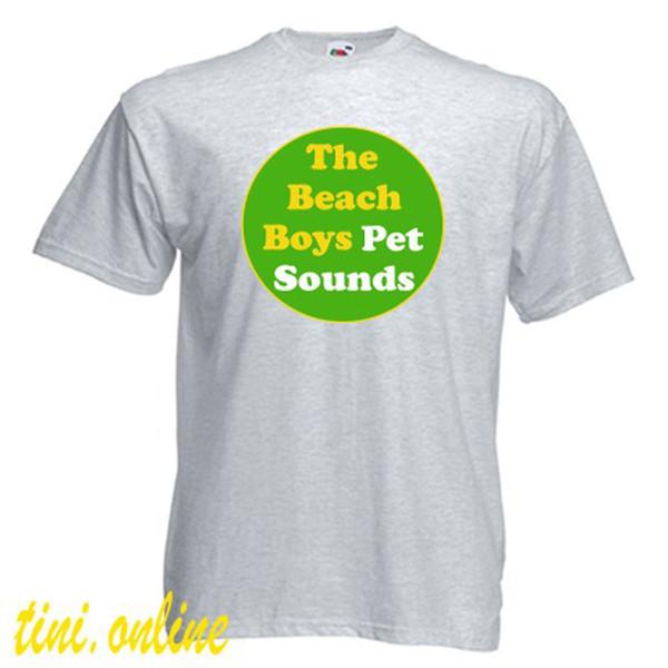 Nouveau THE BEACH BOYS Pet Sons Indie Rock Band Hommes Gris T-Shirt Taille S à 3XL