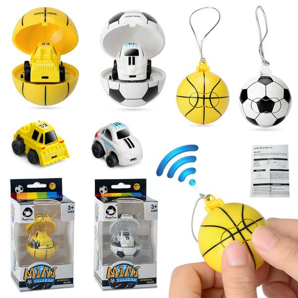 Cartoon 2.4G Mini fútbol baloncesto control remoto Coche Juguetes Athletic de fútbol RC coche para Niños modelo de coche regalo de Navidad C4851